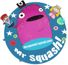mr squash logo blue